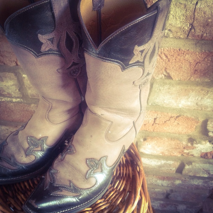 My beloved old cowboy boots from Nashville