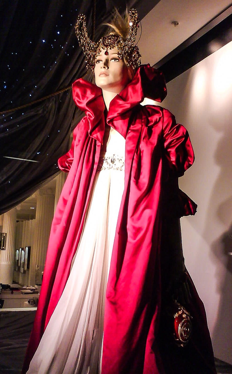 Alexander McQueen Red Silk Cape from  The Girl Who Lived in the Tree AW08 2 by Accessorize All Areas